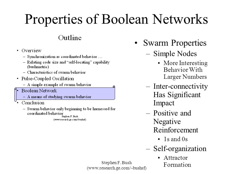Properties of Boolean Networks