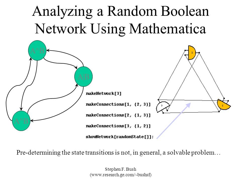 Analyzing a Random Boolean Network Using Mathematica