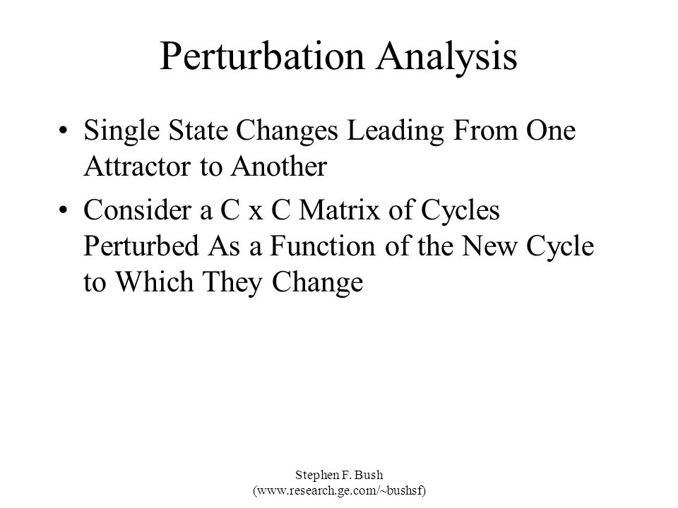 Perturbation Analysis