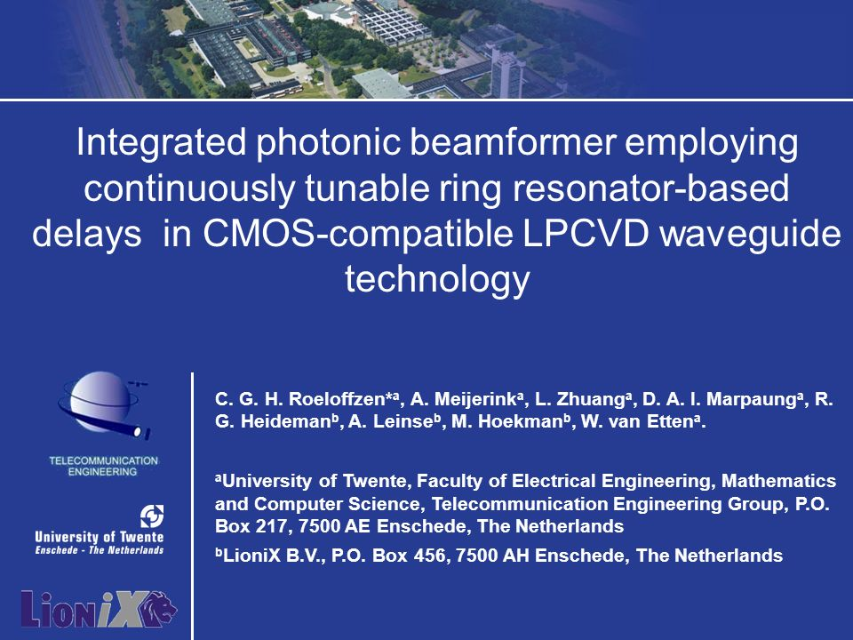 Integrated photonic beamformer employing