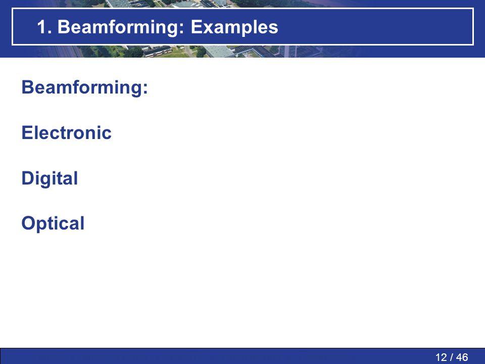 1. Beamforming: Examples