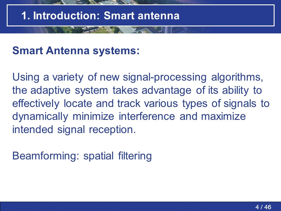 1. Introduction: Smart antenna
