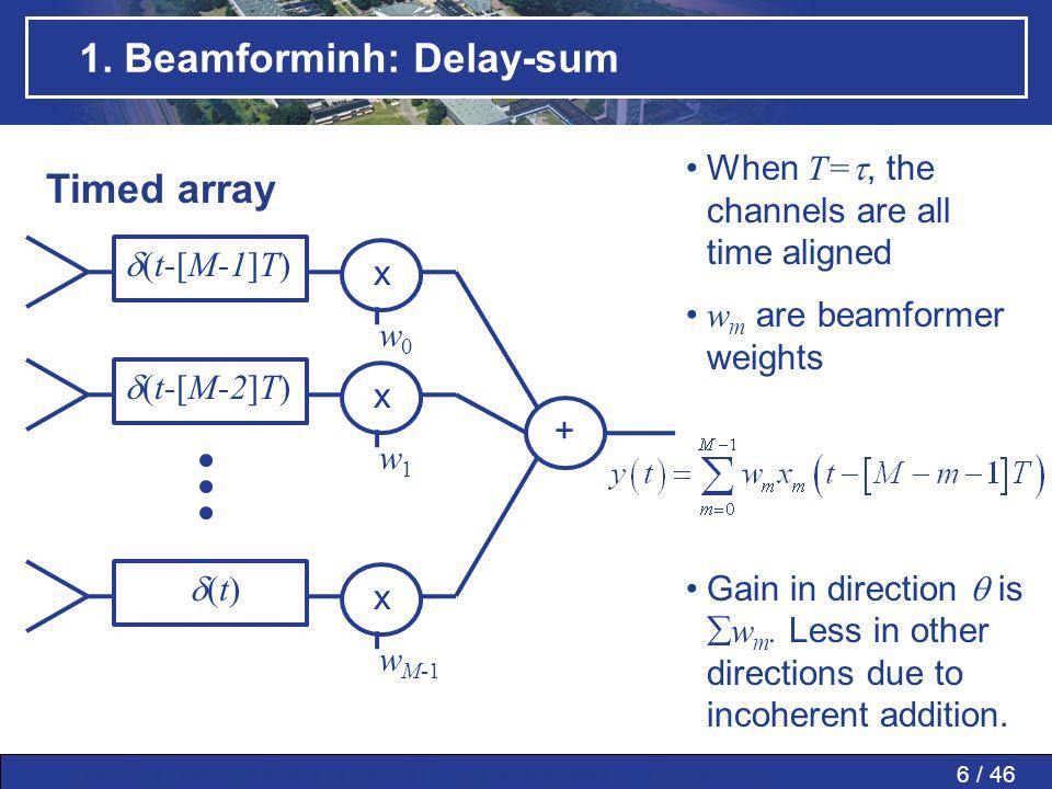 1. Beamforminh: Delay-sum
