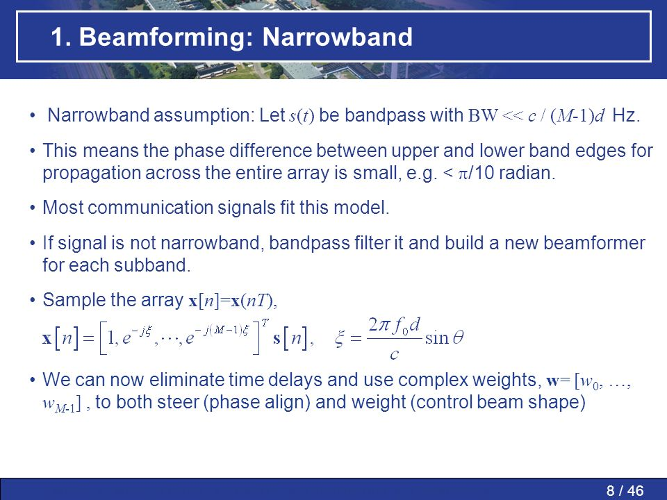 1. Beamforming: Narrowband