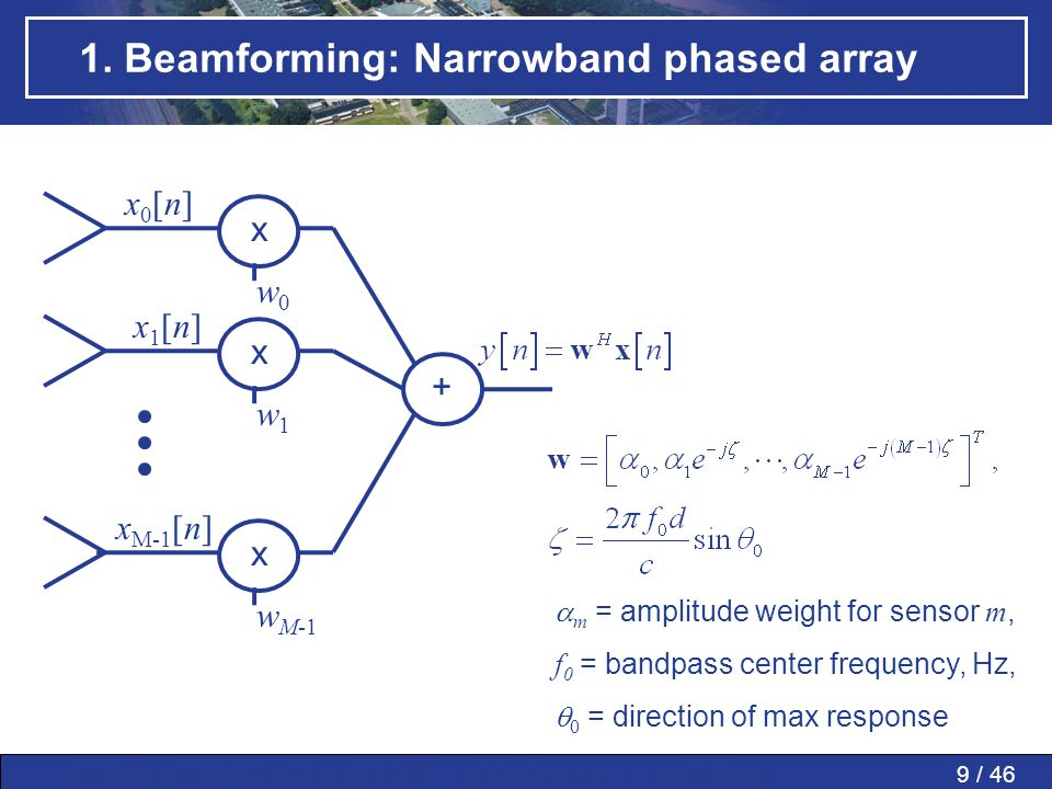 1. Beamforming: Narrowband phased array