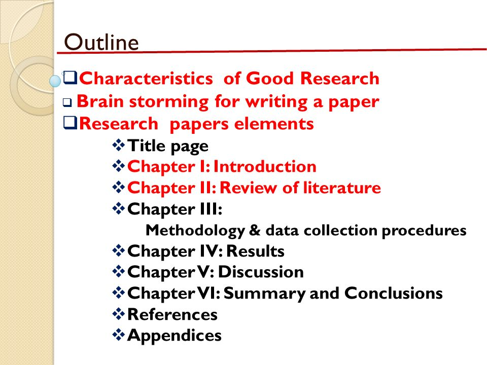 characteristic of research paper Read this essay on nature and characteristics of research come browse our large digital warehouse of free sample essays get the knowledge you need in order to pass your classes and more.