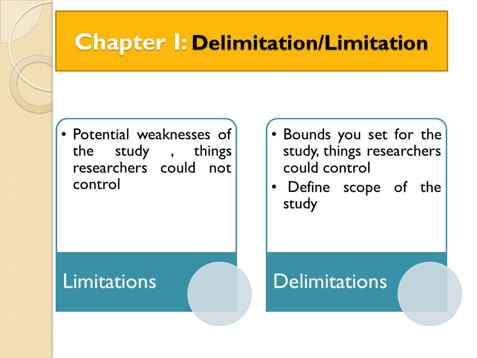 samples of limitations and delimitations Dissertation delimitations dissertation delimitations find dissertation help news & shopping results at oncescope, limitations, and delimitations by marilyn k simon and jim goes includes excerpts from simon & goes (2013), dissertation and scholarly research:how can the answer be improvedthe possible limitations and delimitations.
