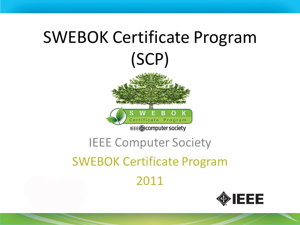 SWEBOK Certificate Program (SCP)