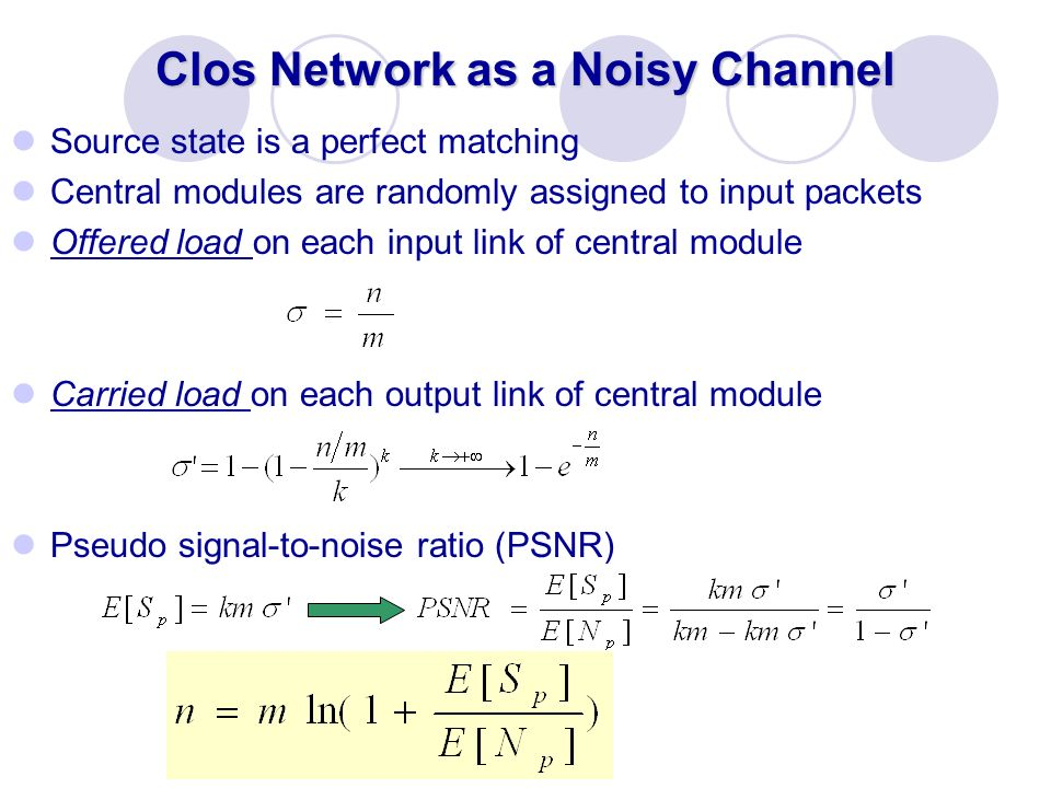 Clos Network as a Noisy Channel