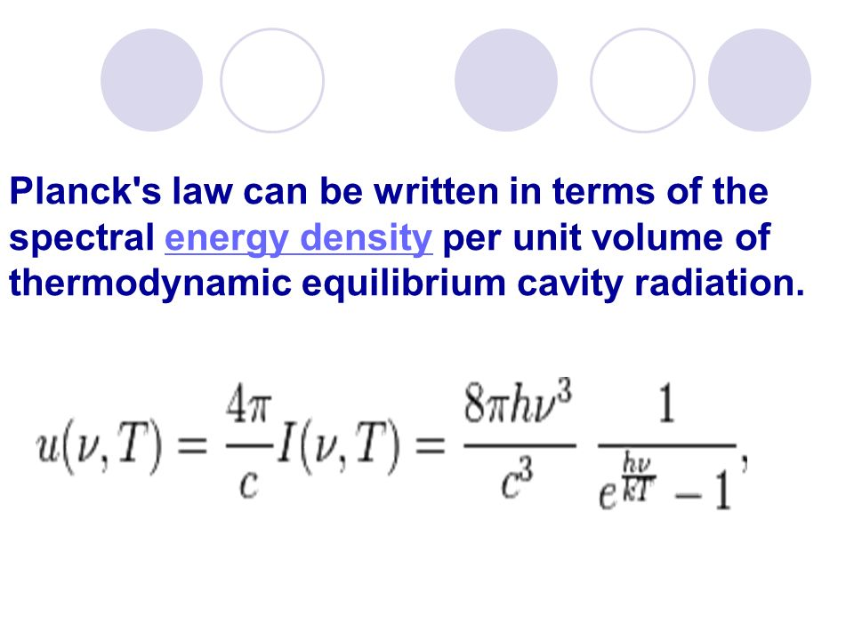 Planck s law can be written in terms of the