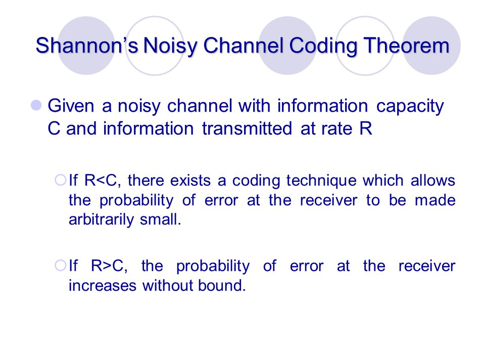 Shannon's Noisy Channel Coding Theorem