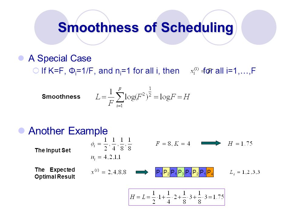 Smoothness of Scheduling
