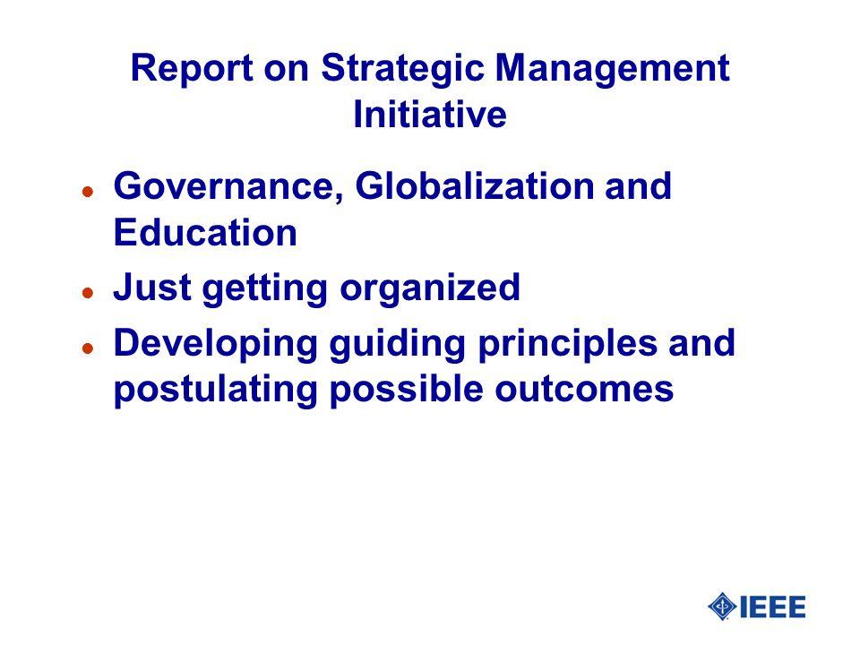 Report on Strategic Management Initiative
