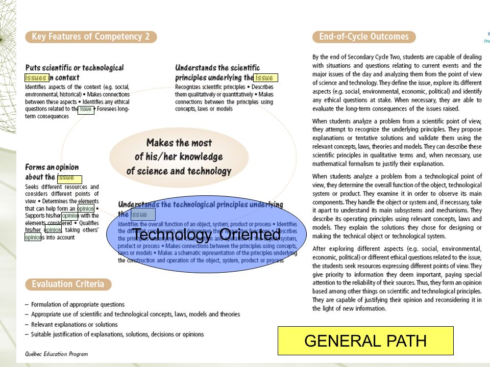Technology Oriented GENERAL PATH 24