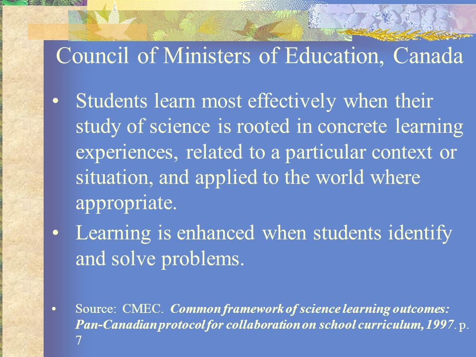 Council of Ministers of Education, Canada