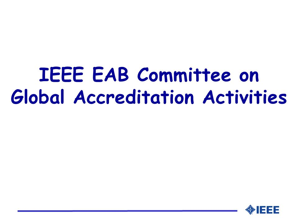 Global Accreditation Activities