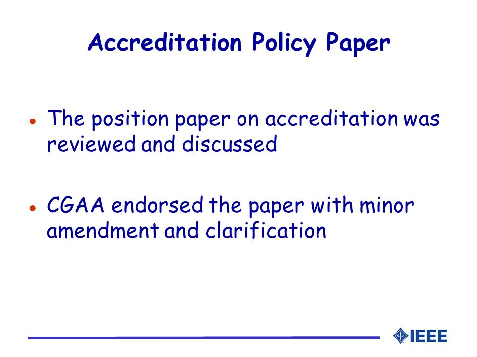 Accreditation Policy Paper