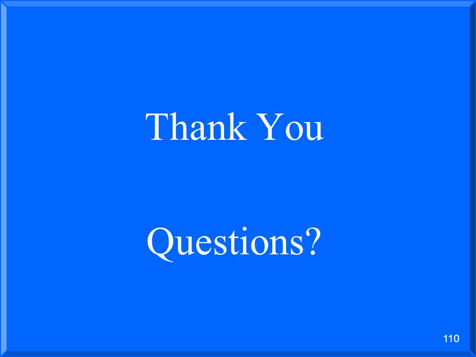 Thank You Questions 1