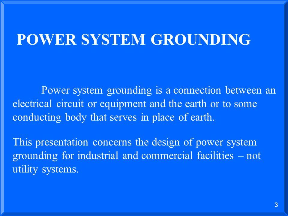 POWER SYSTEM GROUNDING