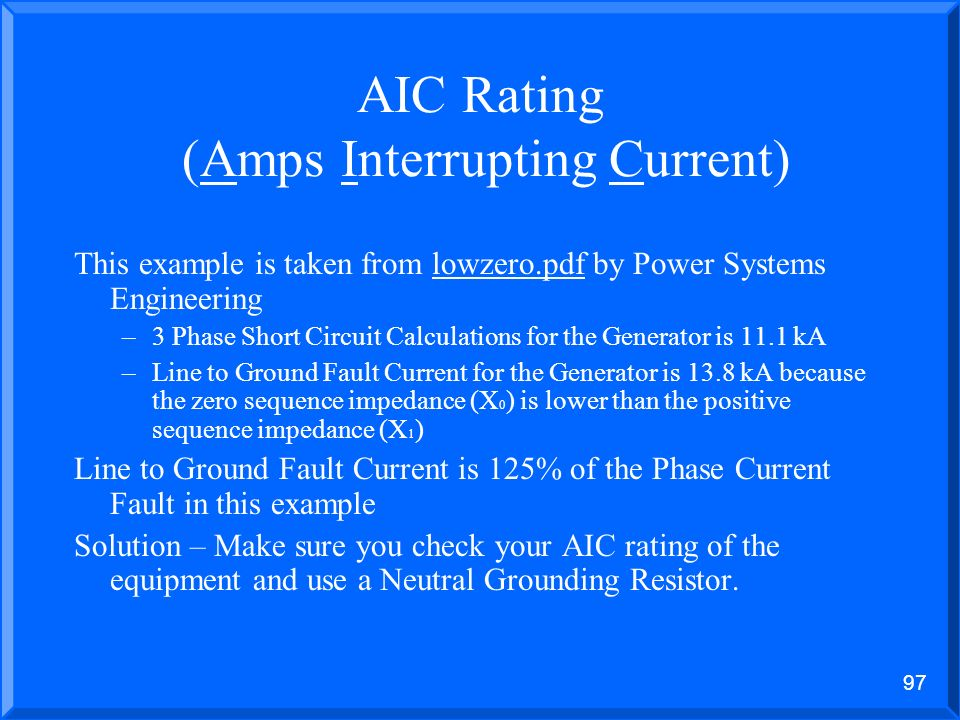 AIC Rating (Amps Interrupting Current)