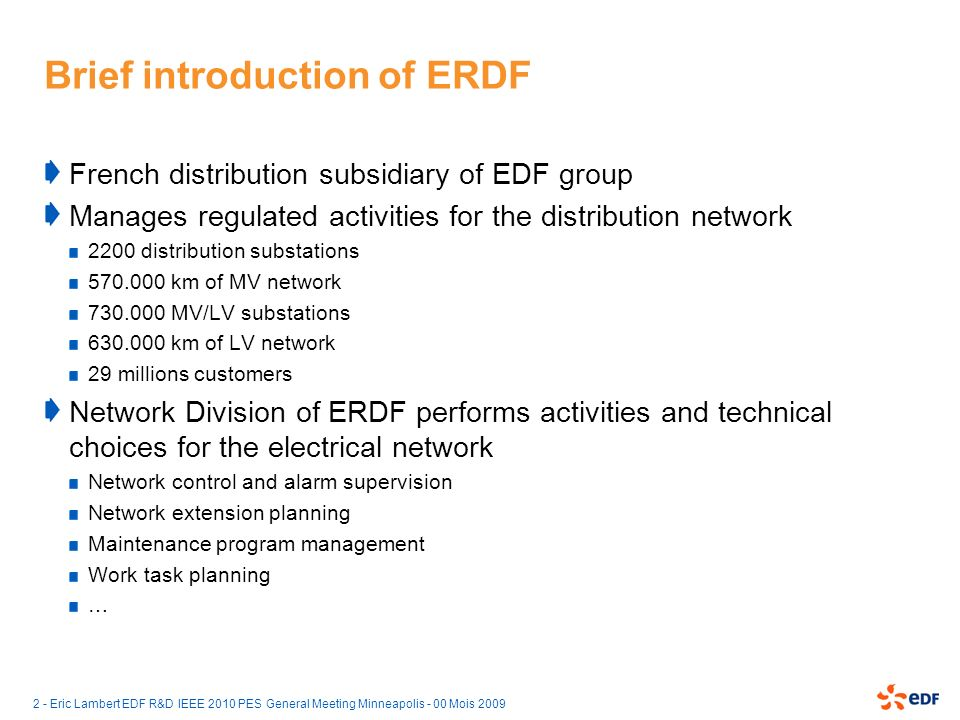 Brief introduction of ERDF