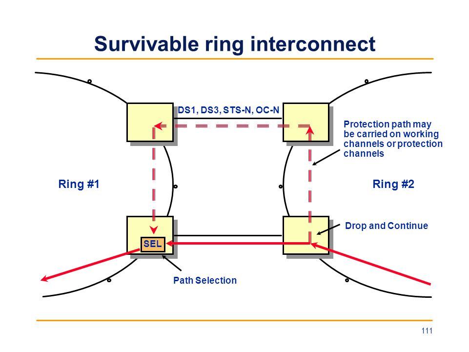 Survivable ring interconnect