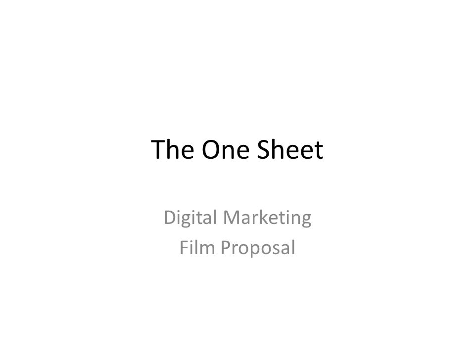 Digital marketing film proposal ppt video online download digital marketing film proposal toneelgroepblik Choice Image