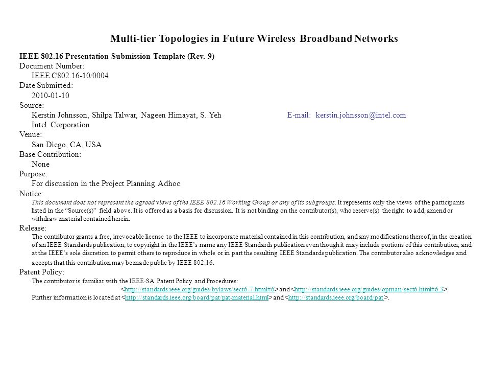 Multi-tier Topologies in Future Wireless Broadband Networks