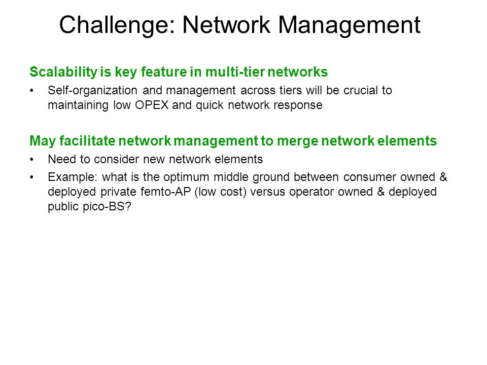 Challenge: Network Management