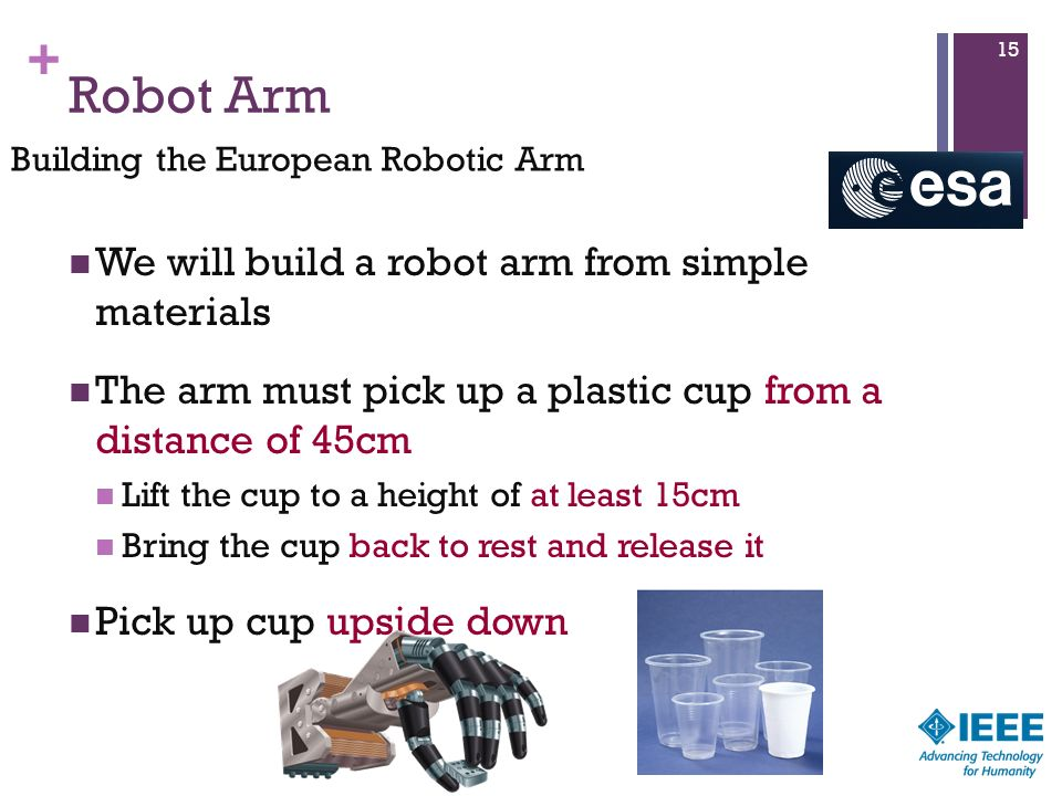 Robot Arm We will build a robot arm from simple materials