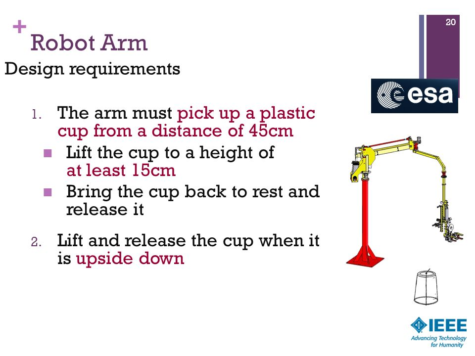 Robot Arm Design requirements
