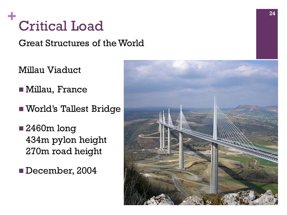 Critical Load Great Structures of the World Millau Viaduct