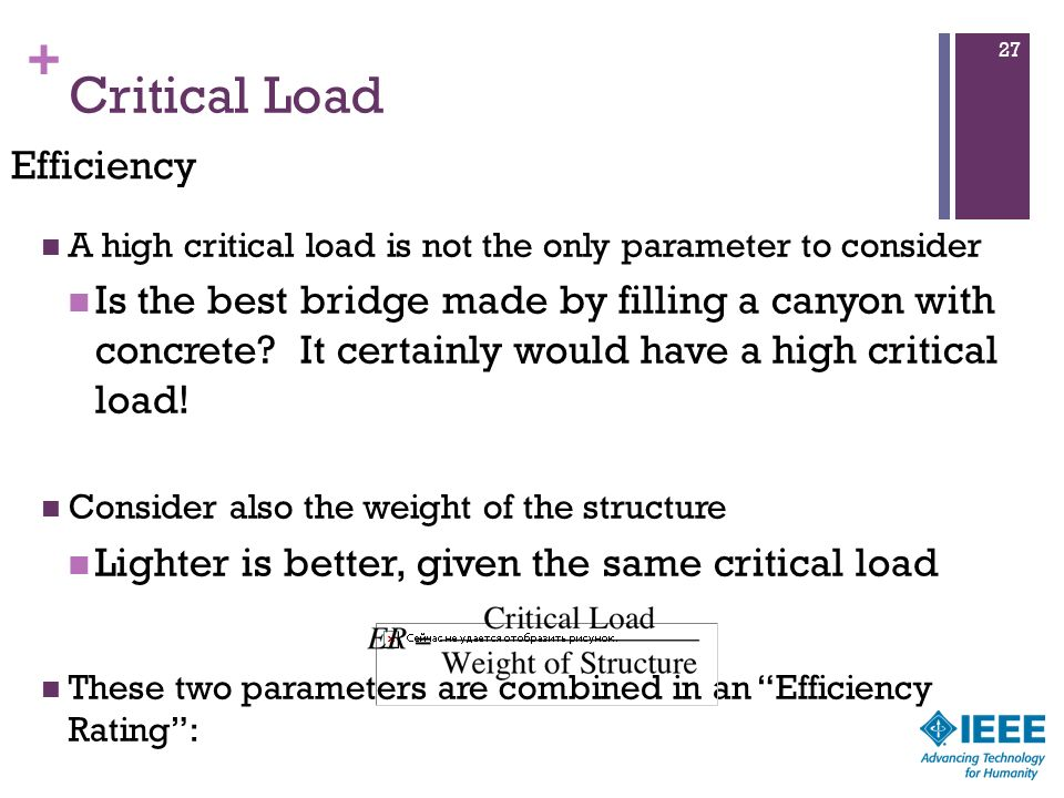 Critical Load Efficiency
