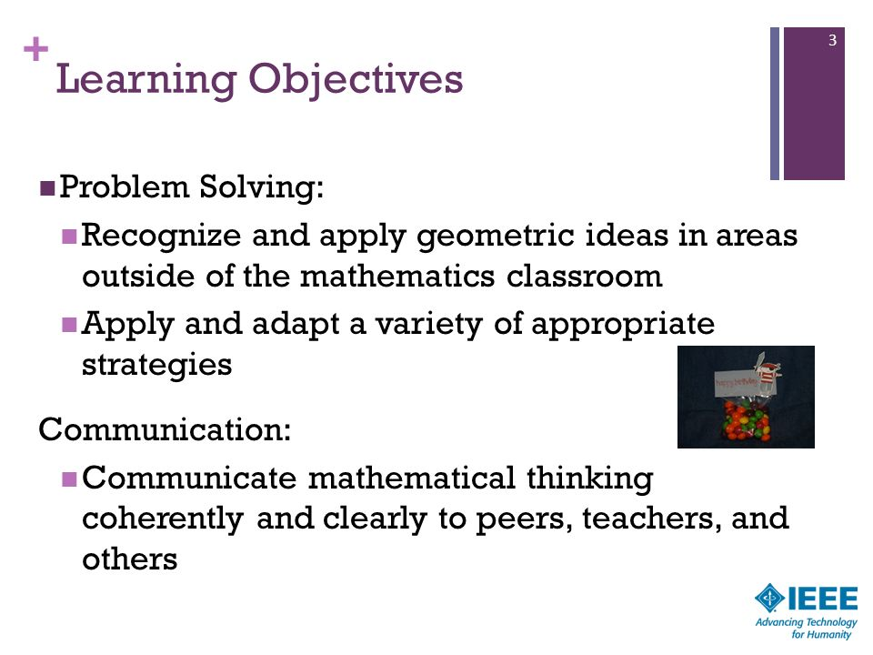 Learning Objectives Problem Solving: