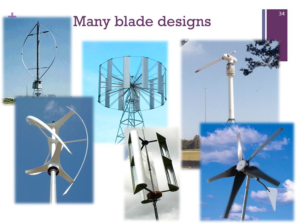 Many blade designs