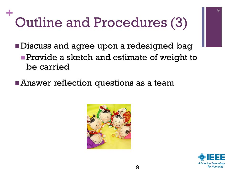 Outline and Procedures (3)