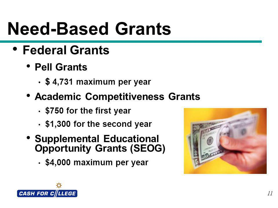 Need-Based Grants Federal Grants Pell Grants