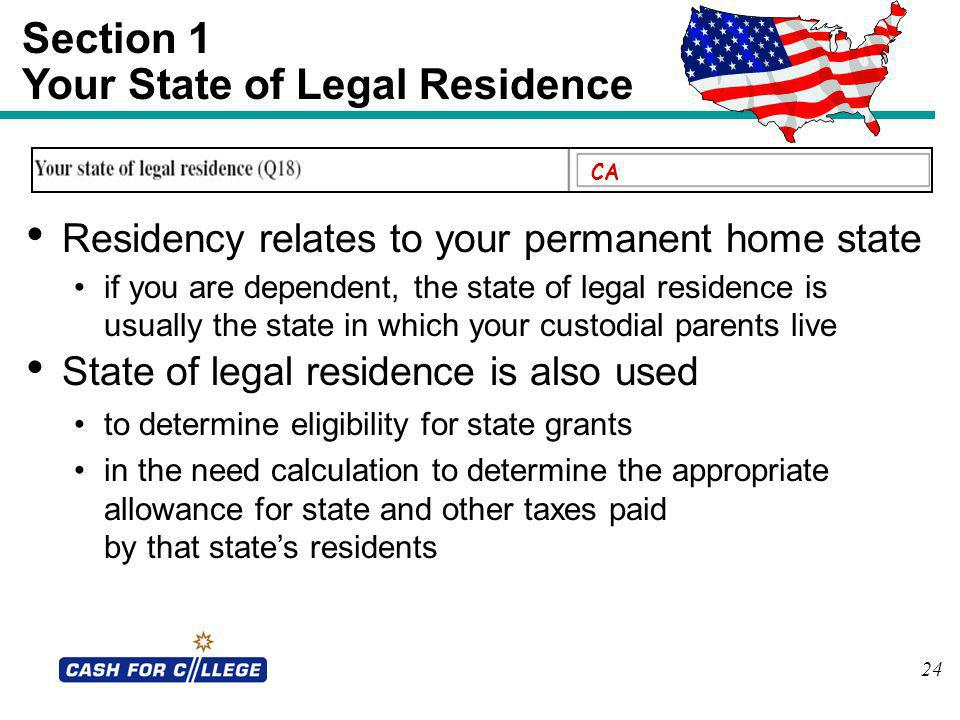 Your State of Legal Residence