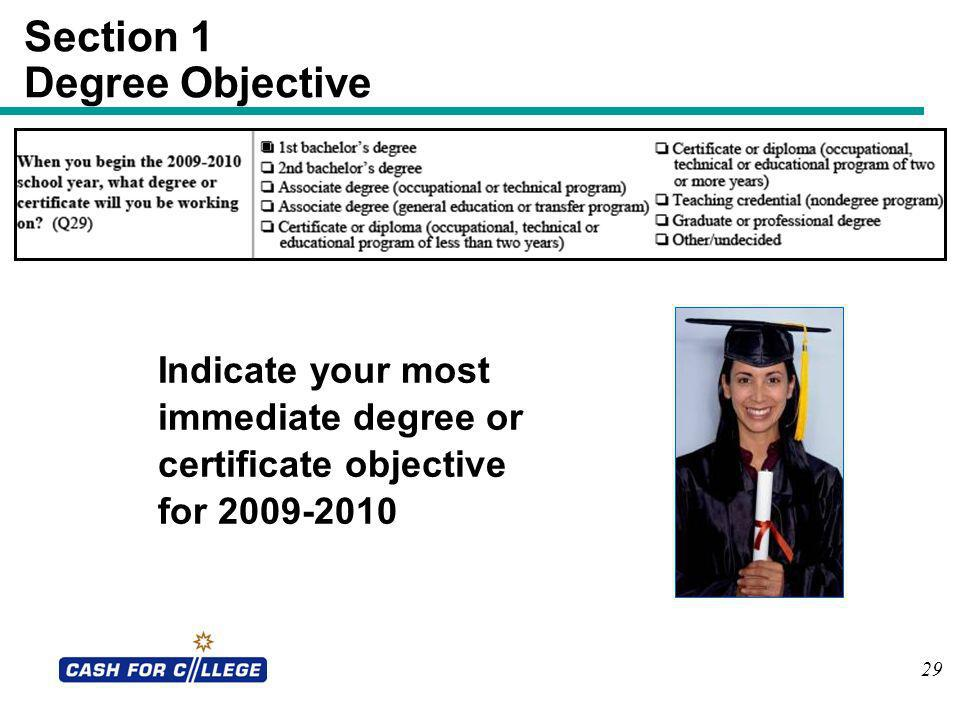 Section 1 Degree Objective