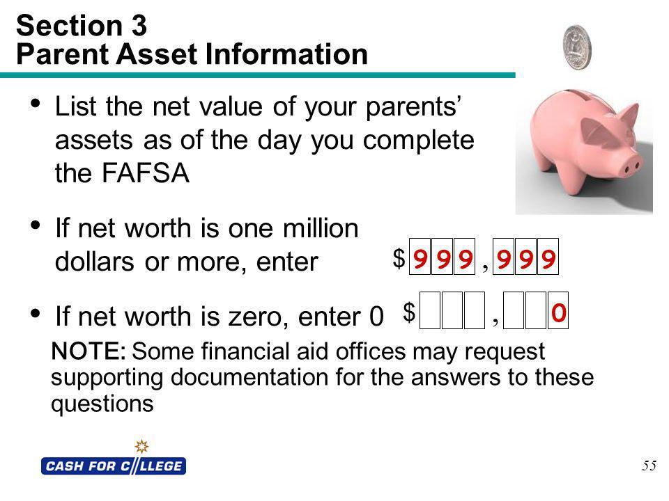 Section 3 Parent Asset Information