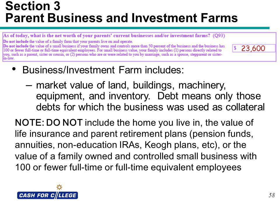 Section 3 Parent Business and Investment Farms