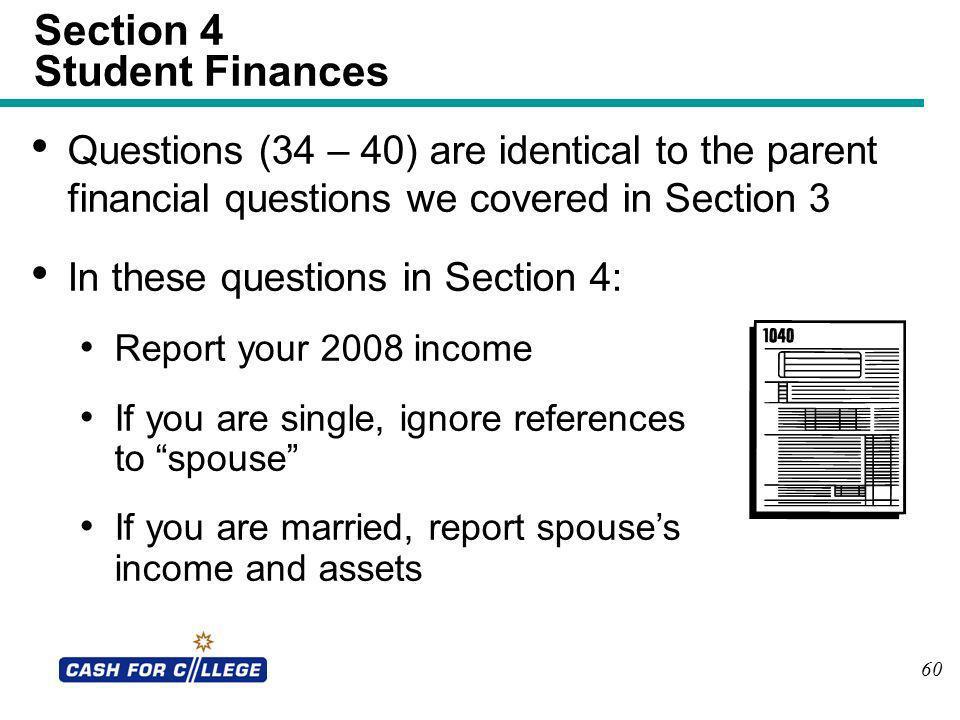 Section 4 Student Finances