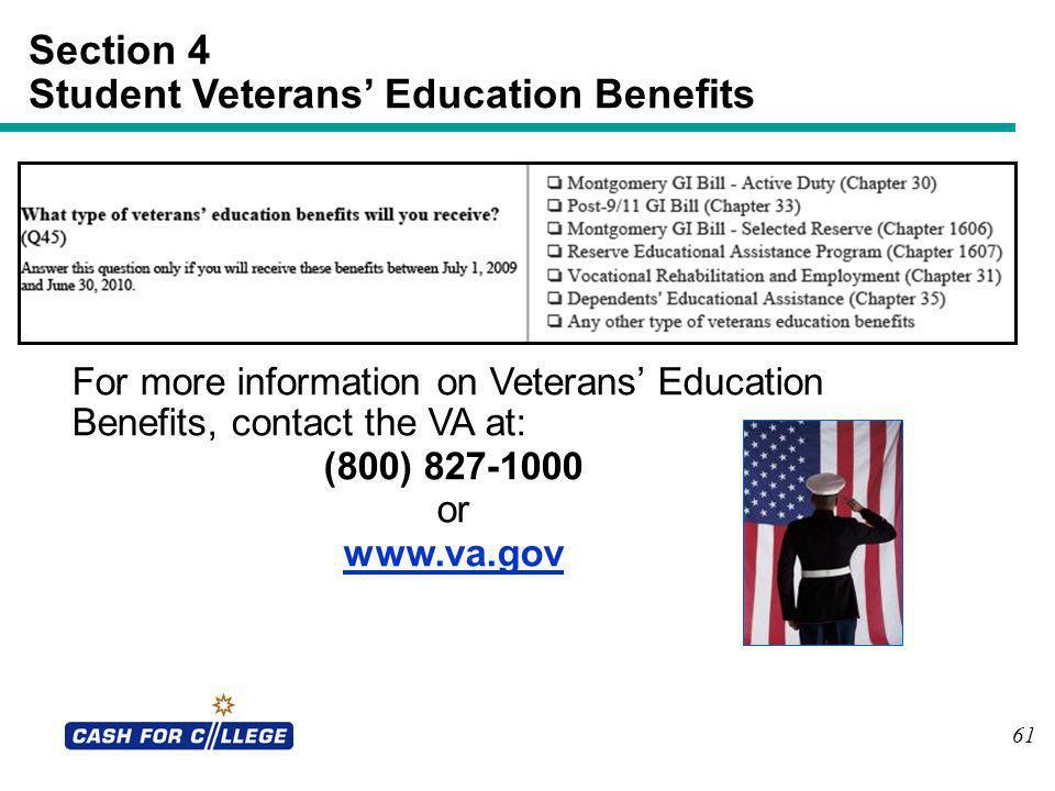 Student Veterans' Education Benefits