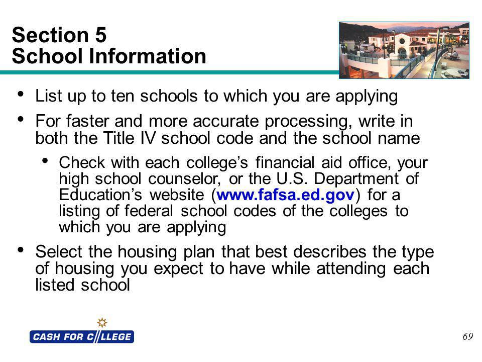Section 5 School Information