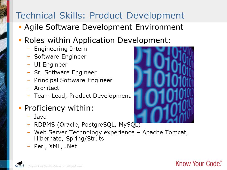 Technical Skills: Product Development