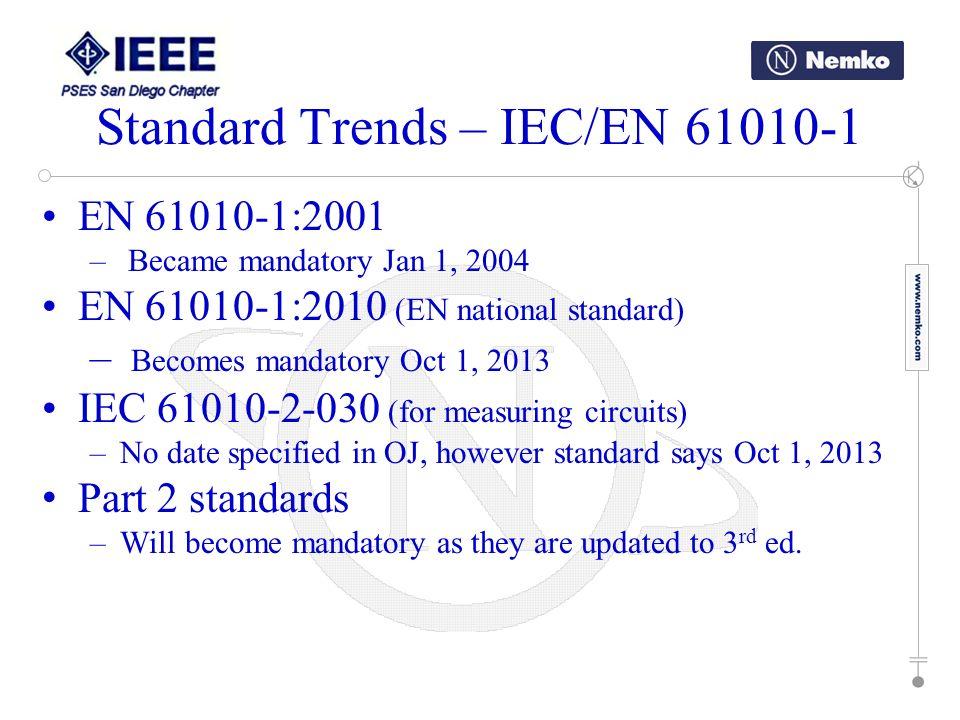 Standard Trends – IEC/EN 61010-1