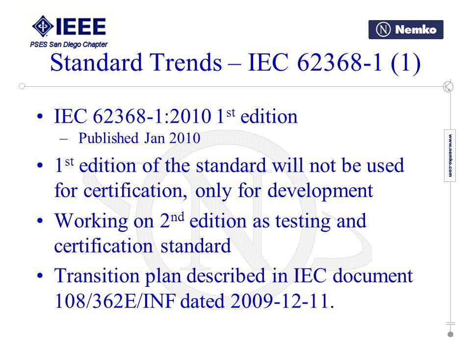 Standard Trends – IEC 62368-1 (1)