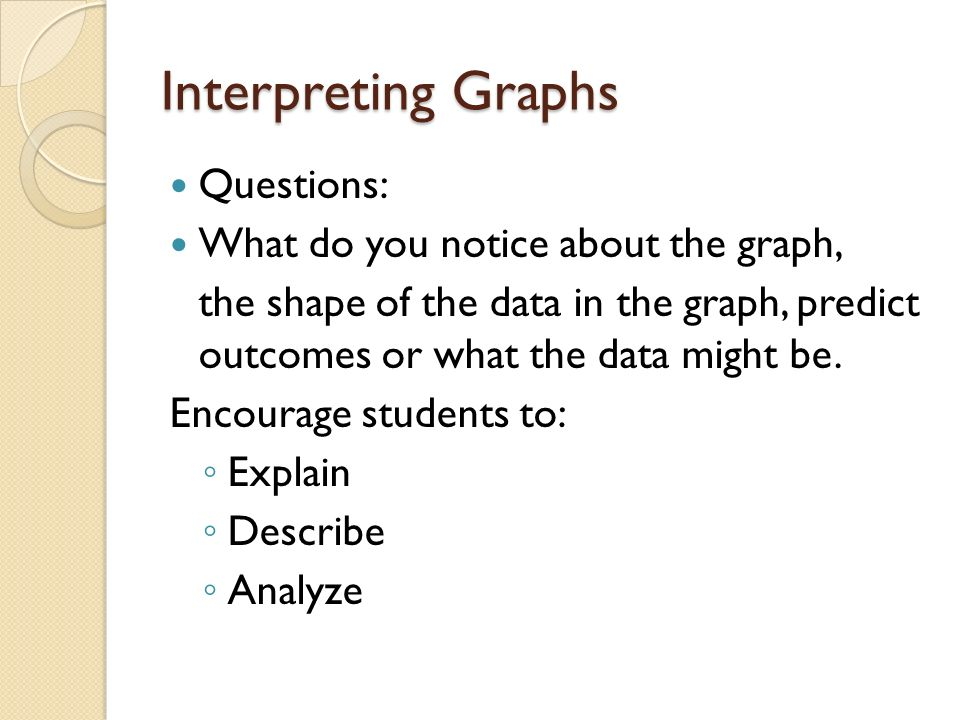 how to explain the shape of a line graph