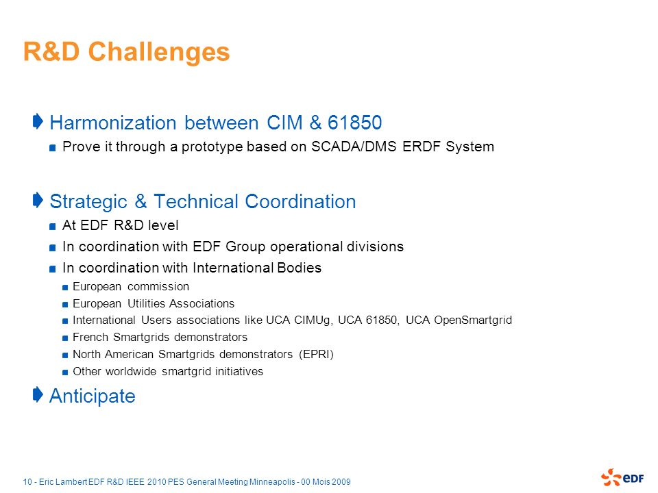 R&D Challenges Harmonization between CIM & 61850