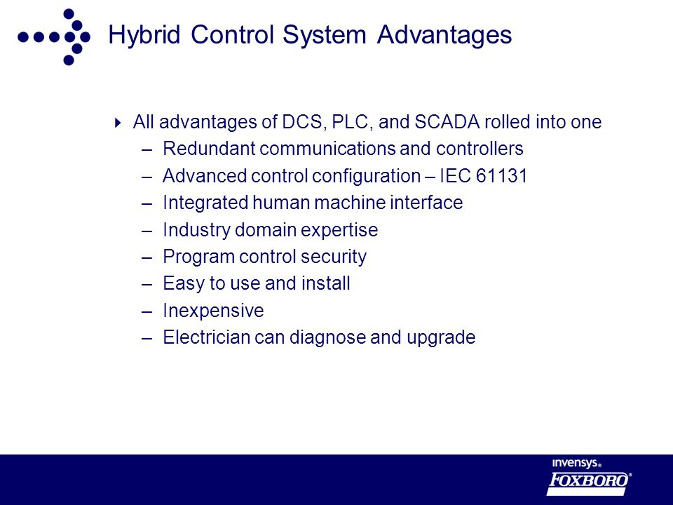 Hybrid Control System Advantages